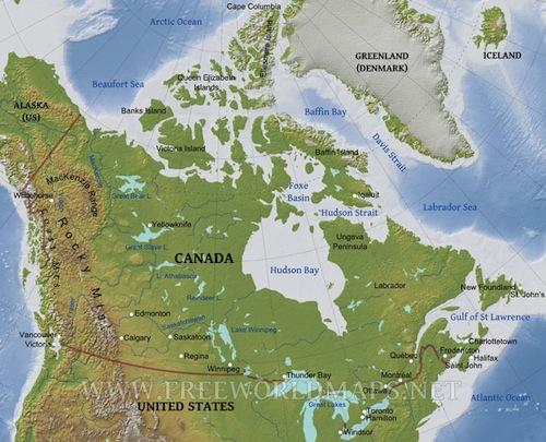 Unit 1 – Confederation – Mr. W's Cl Website Terrain Map Of Canada on